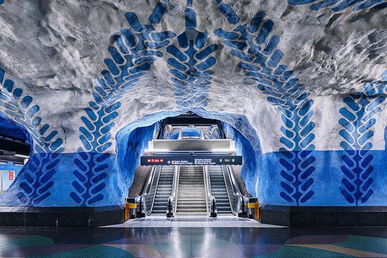 شبکه مترو استکهلم طولانی ترین نمایشگاه هنری دنیا است (گالری عکس)