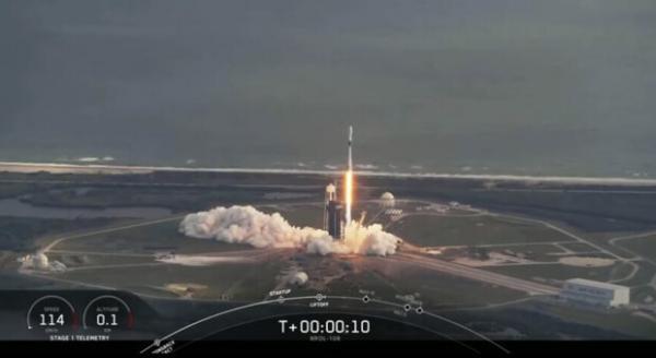 اسپیس ایکس یک موشک دست هشتمرا به فضا می فرستد